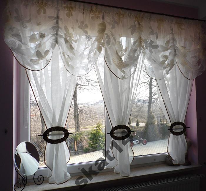 Firana Firany Firanki Firanka Lambrekin 180 220cm 4254265817 Oficjalne Archiwum Allegro Ruffle Curtains Curtains Decor