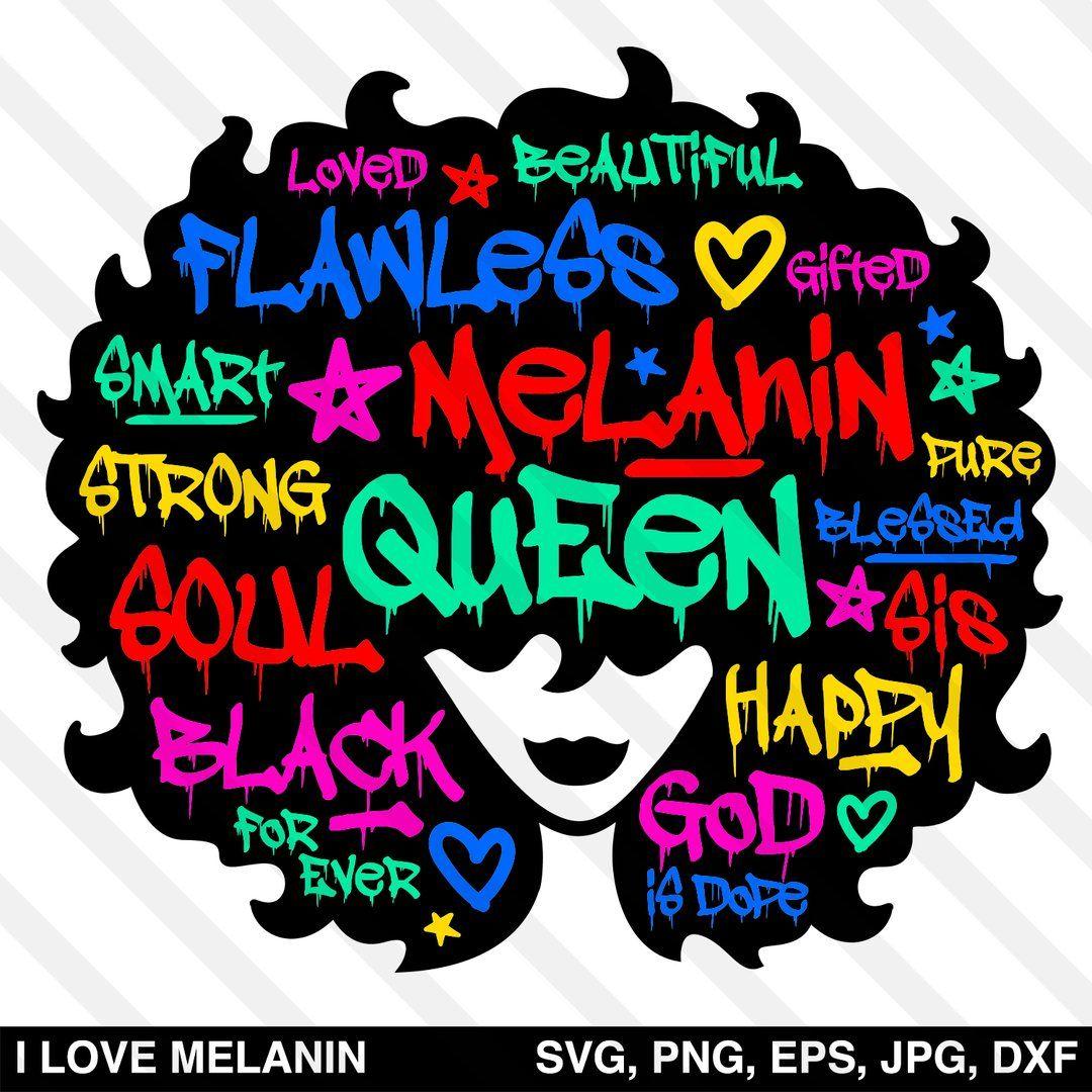 Graffiti Black Queen Afro Woman SVG in 2020 Black queen