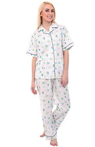 Alexander Del Rossa Womens Cotton Pajamas 27c023596