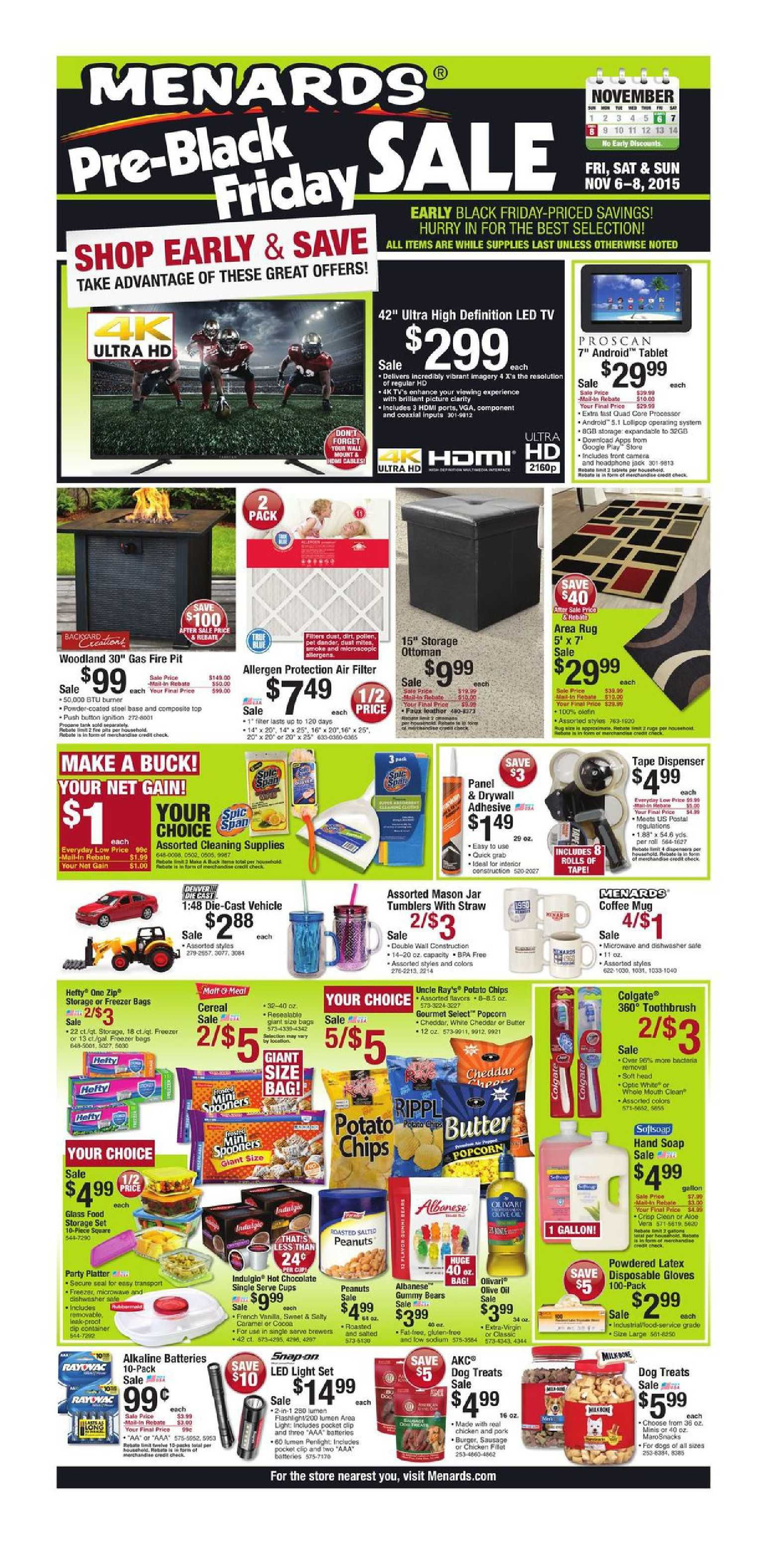 Uncategorized Black Friday Ad Menards menards weekly ad november 6 8 2015 pre black friday sale sale
