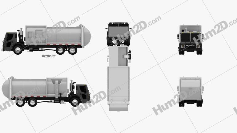 Mack Lr Garbage Truck 2015 Clipar Garbage Truck Clip Art Garbage