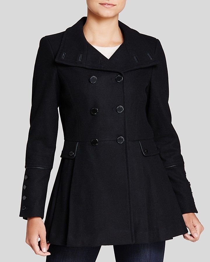 Military Style Pea Coat | Military style and Black pea coats