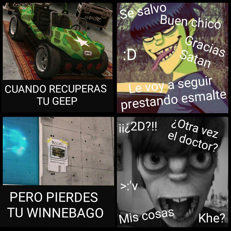 Cosas Random Del 2doc O De Gorillaz Gorillaz Haha Funny Memes