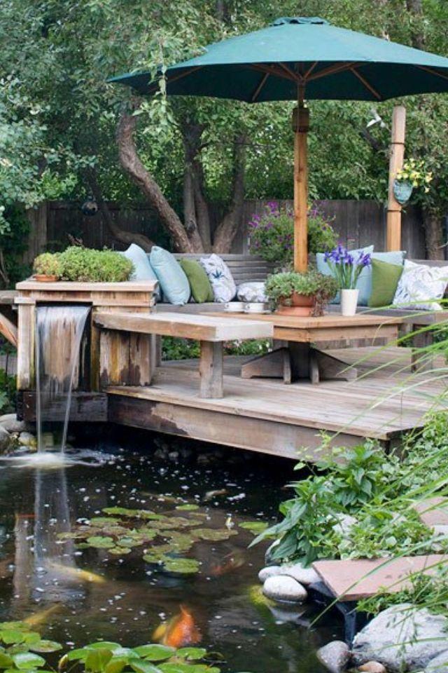 35 Impressive Backyard Ponds And Water Gardens Architecture Design Ponds Backyard Pond Landscaping Pond Design