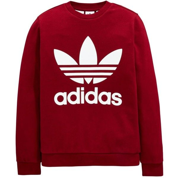 Adidas Originals Adidas Originals Childrens Trefoil Sweat Top (170 AED) ❤ liked on Polyvore
