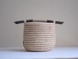 annsymes:  Ingrid Press Mini basket - raffia, pine needles, willow