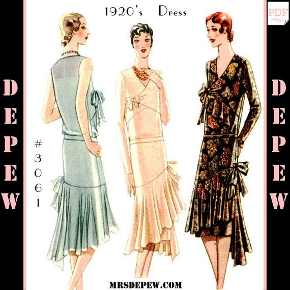 Vintage Sewing Pattern Reproduction Ladies\' 1920\'s Maggy Rouff ...
