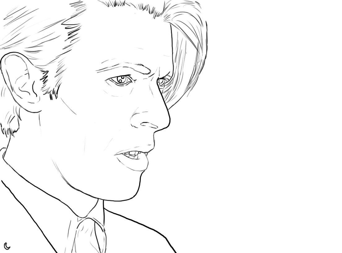 Robot Check Bowie Art David Bowie Coloring Books