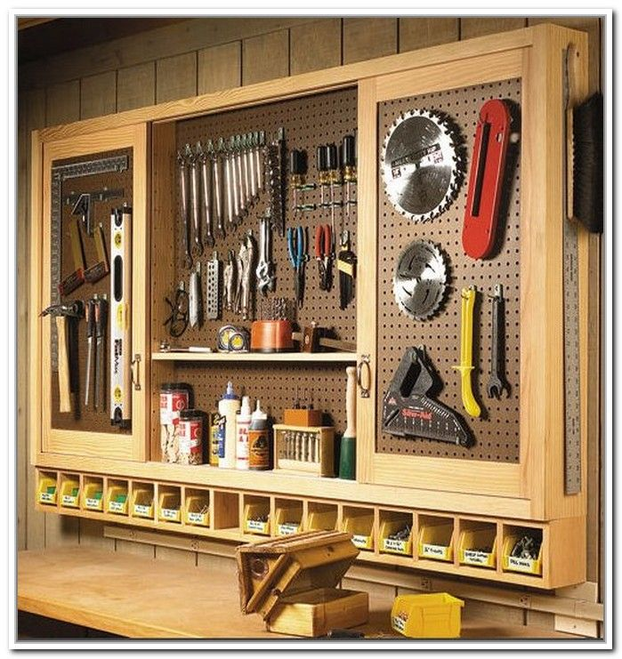Pegboard tool storage ideas garage shopmancave pinterest tool pegboard tool storage ideas publicscrutiny Images