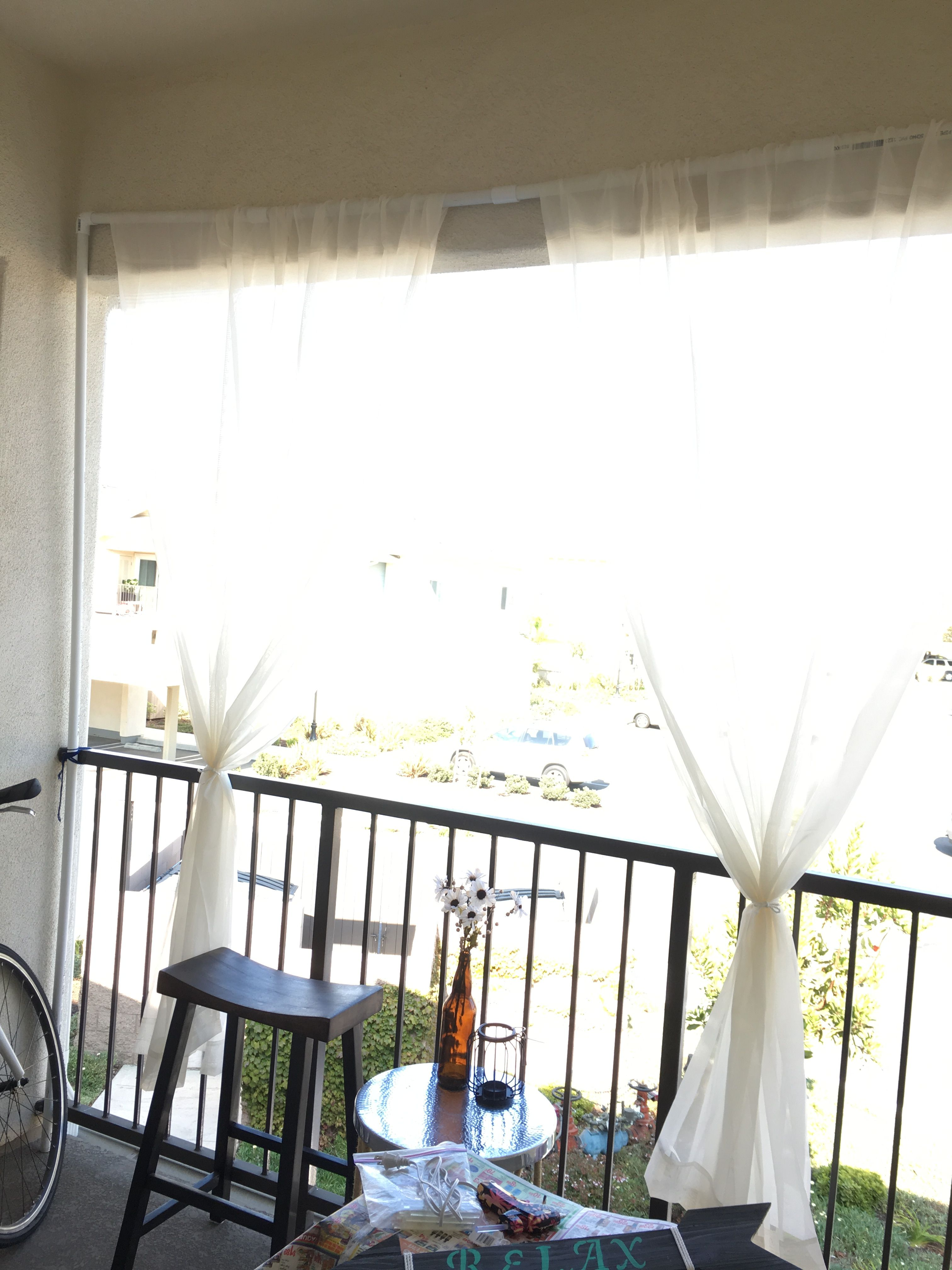 DIY Balcony cover  Small balcony, Home, Decor