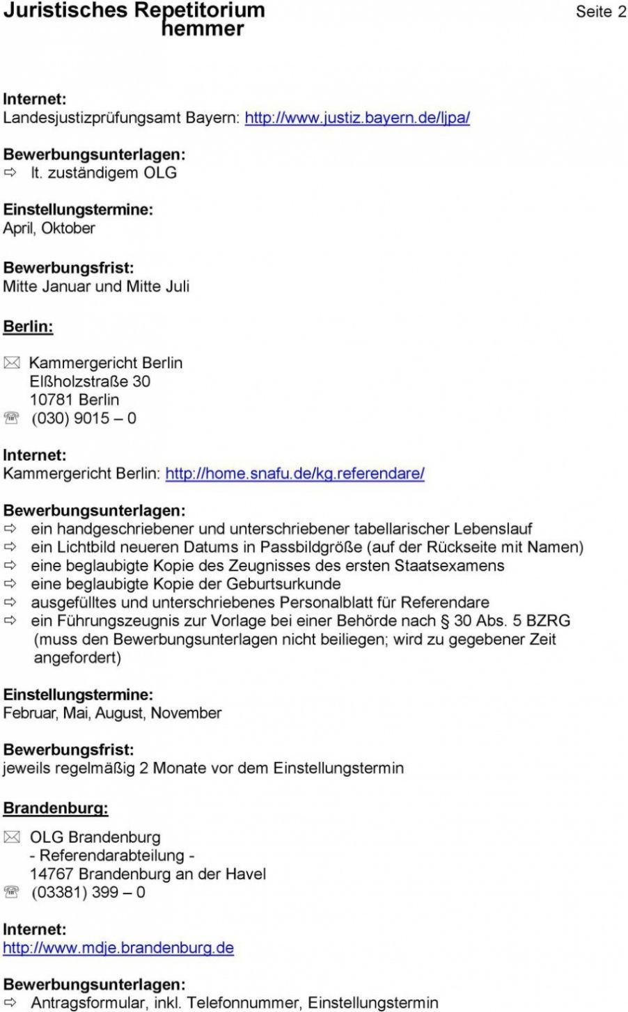 Bewerbung Archivassesor Referendariat Ausbildung 12