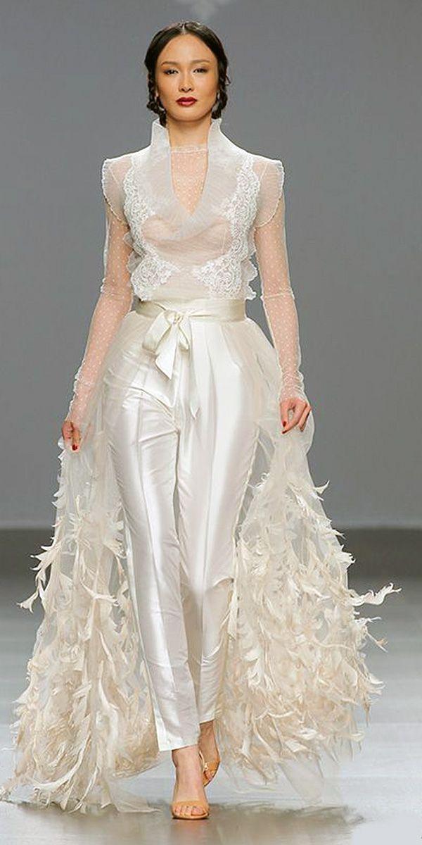 Trend 2018: 24 Wedding Pantsuit & Jumpsuit Ideas   Brautkleider