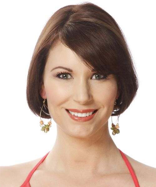 View and try on this Short Straight Formal Bob Hairstyle - Medium Brunette (Chocolate).