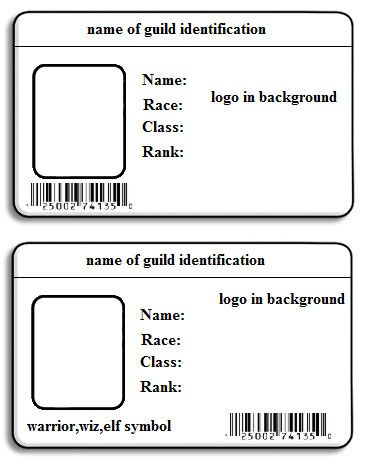 It is a picture of Printable Id Cards for company sample philippines