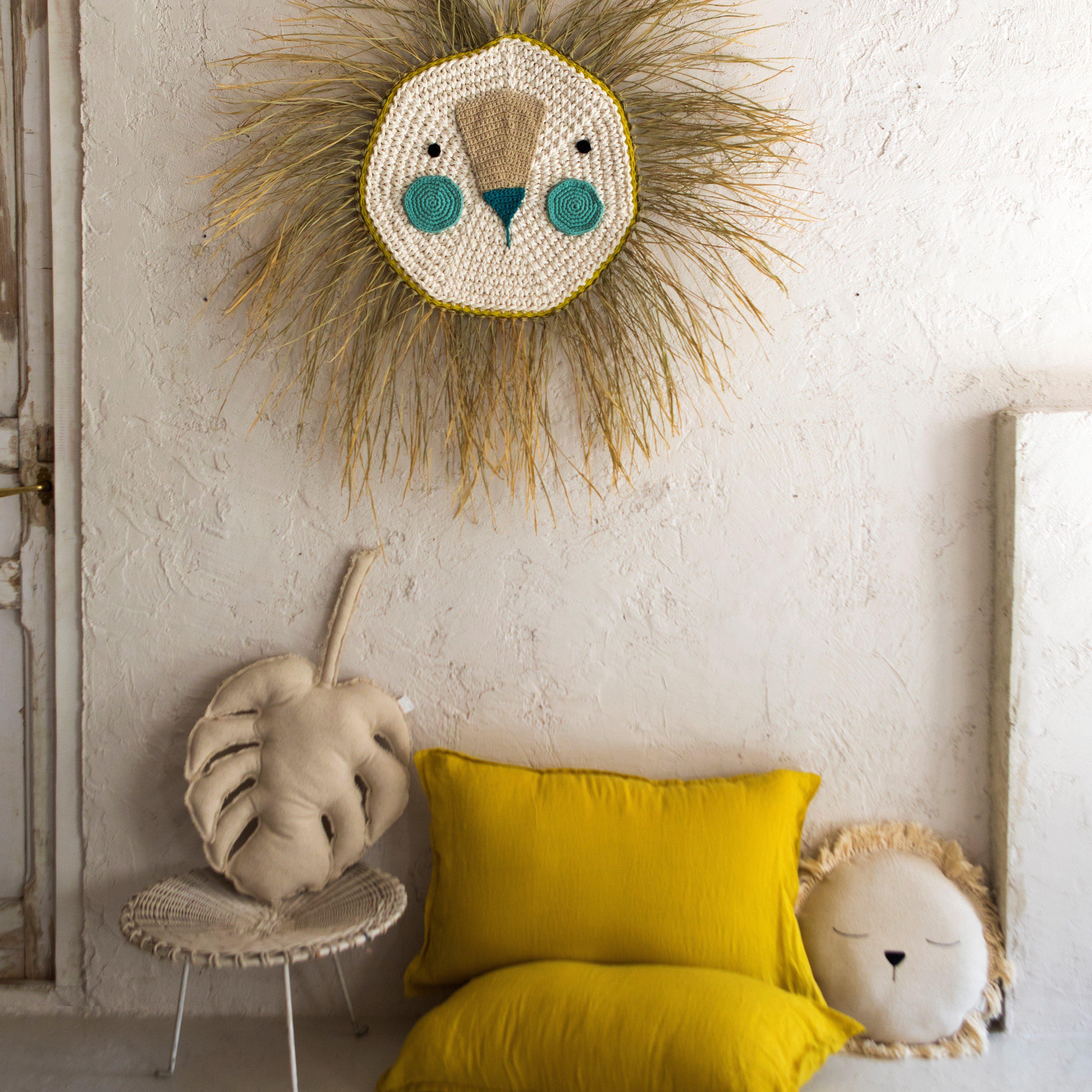 Le N Crochet Gigante Tonos Azules Decoracion De Pared Los  # Muebles Gigante Rosario