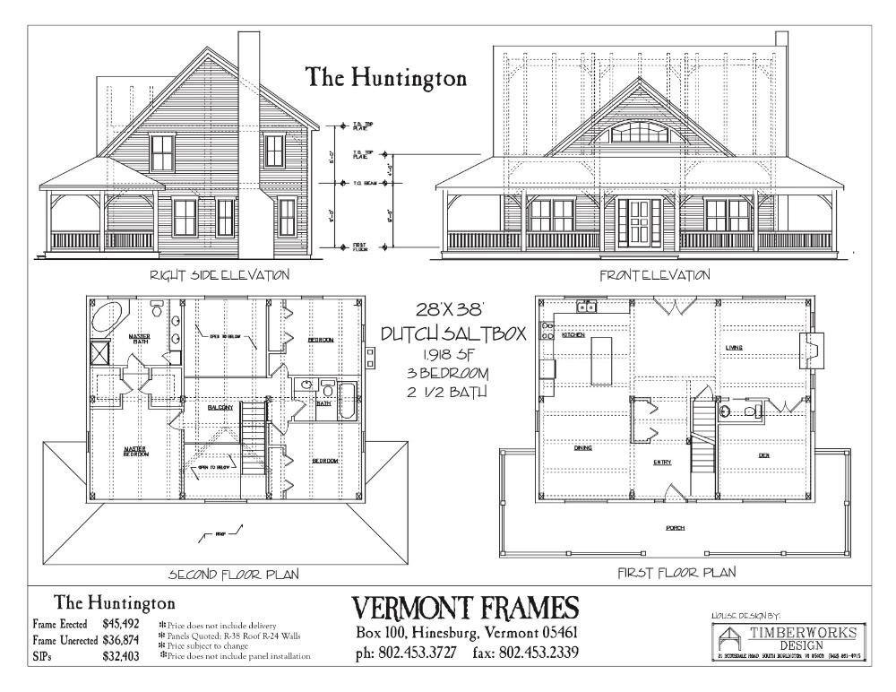Huntington Dutch Saltbox Floor Plans Timber Frame Home Plans Timber House