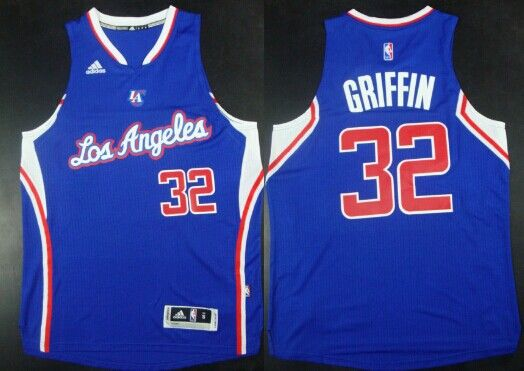 los angeles clippers 32 blake griffin revolution 30 swingman 2014 new blue jersey