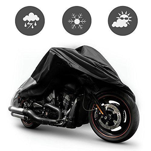 7ed29ebe581 SunJas Cubierta Impermeable para Motos XXL Fundas para Motocicleta 190T  Maletas de Lonas Plata Anti UV