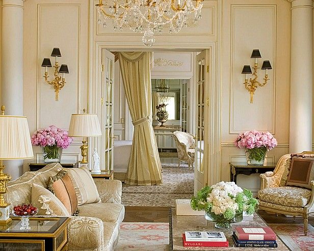 Attractive French Living Room Design Ideas | French style decor ...