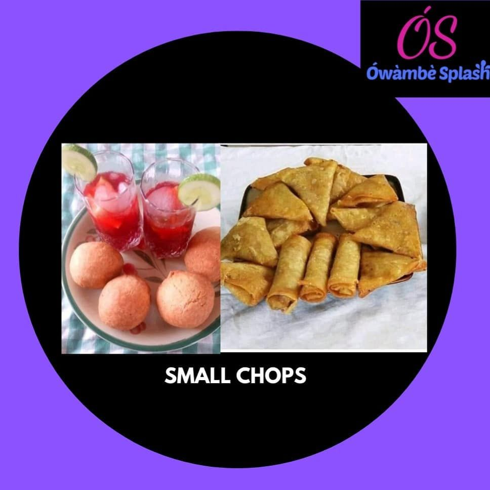 Ówàmbè Splash Gist Describe your first tasting experience with small chops Tag your friends to answer