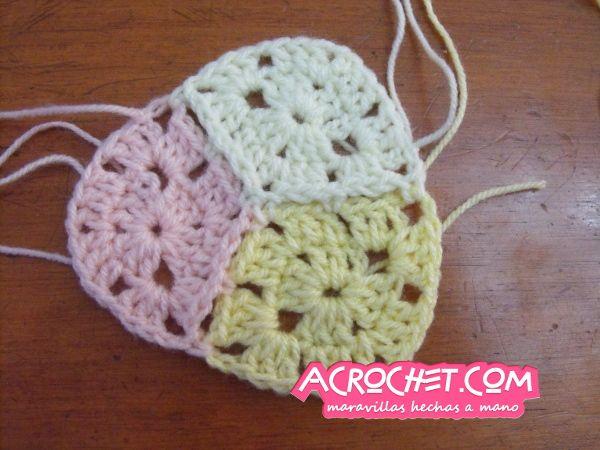 crocheting with rhombuses