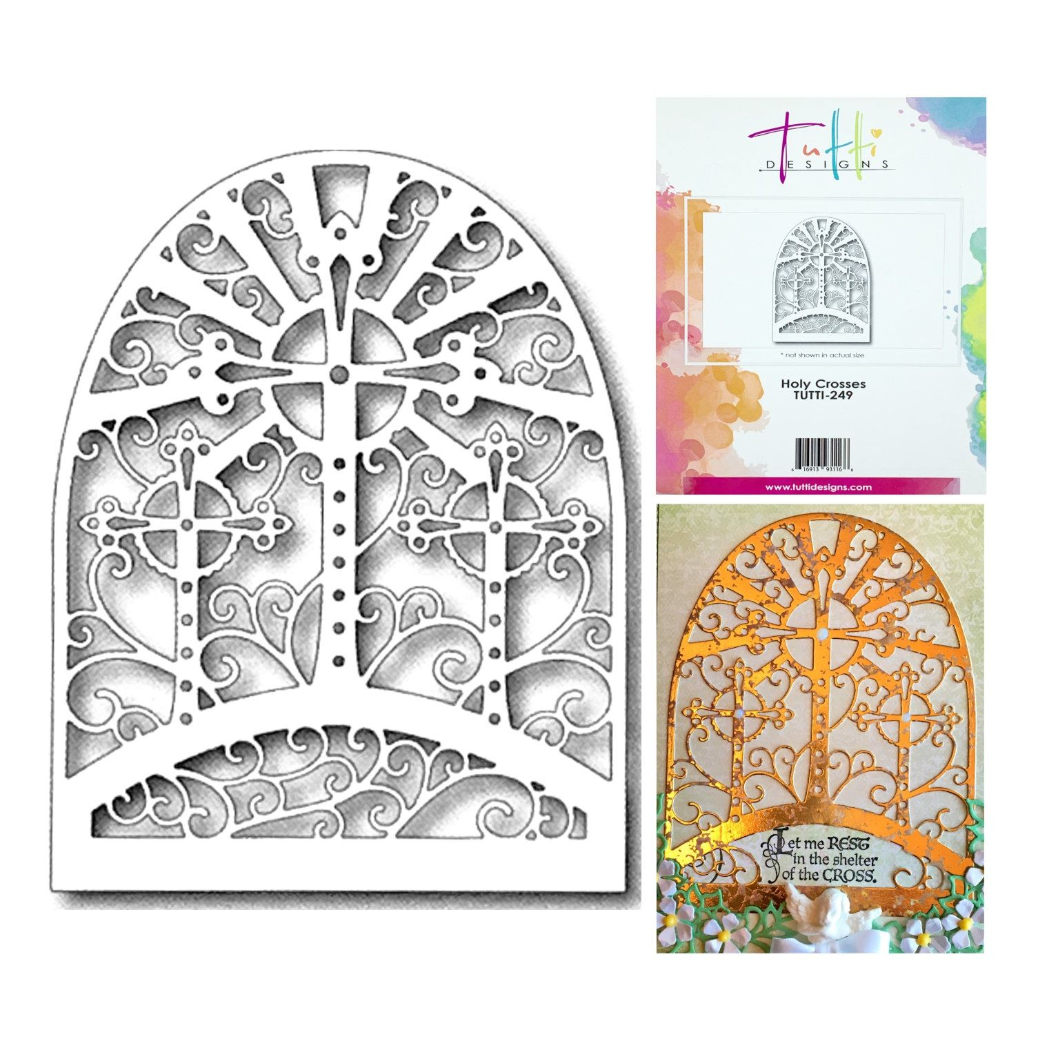Easter Cross Vine Cutting Dies Scrapbooking Embossing Card Album Frame Stencils