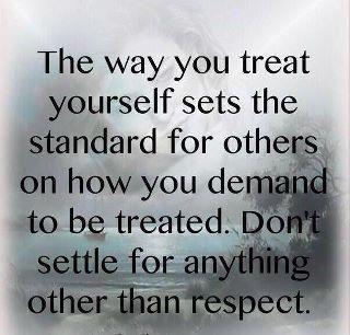 Demand respect!