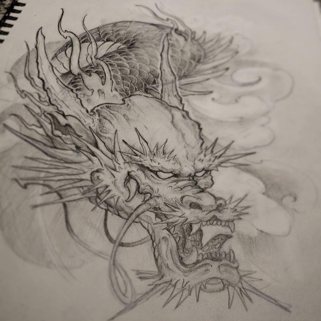 436 Curtidas 5 Comentarios Marilyn Nguyen Marilyn Tattoos No Instagram Sketching Dragon Tattoo Art Dragon Head Tattoo Japanese Dragon Tattoos