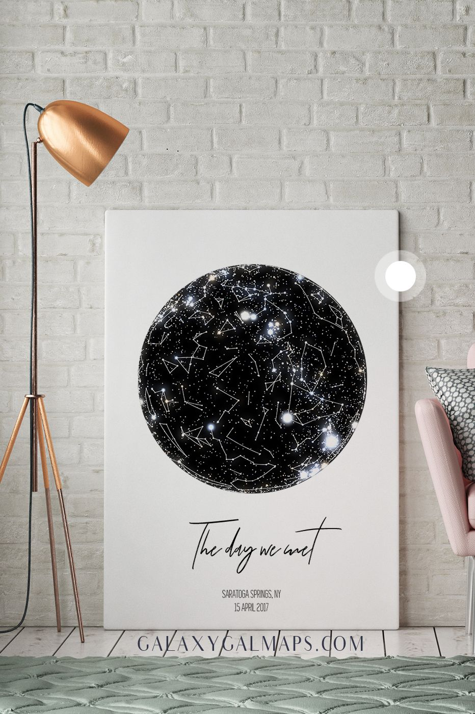 Personalized Star Map - Astronomy Gifts Wall Art - Bridal Shower Gift for Wedding-Bride Groom Gift for Her Personalized Engagement Gift for ...
