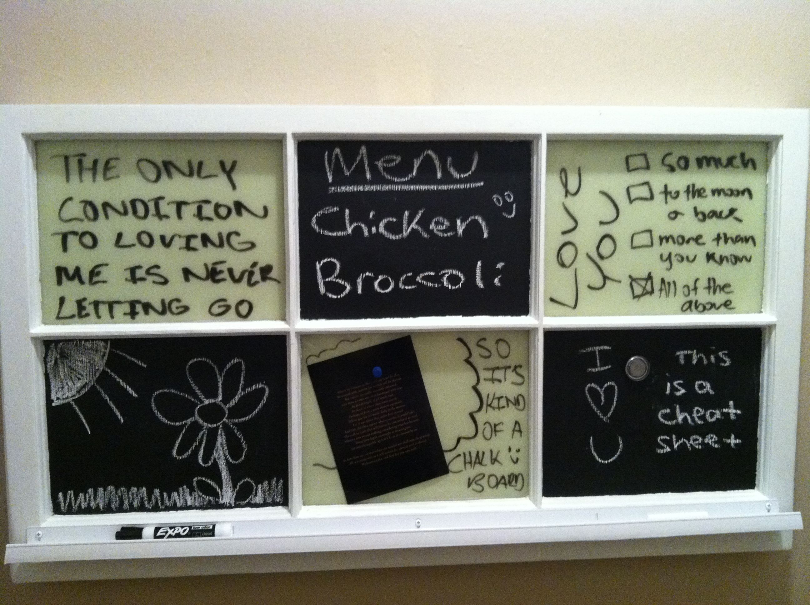 Best Home Made Chalkboard White Board By Chris Straface Designs