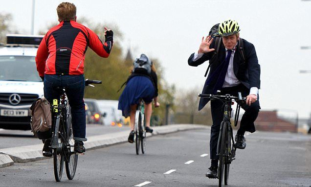 Boris Launches New Cycle Lane But One Cyclist Is Clearly Not A Fan