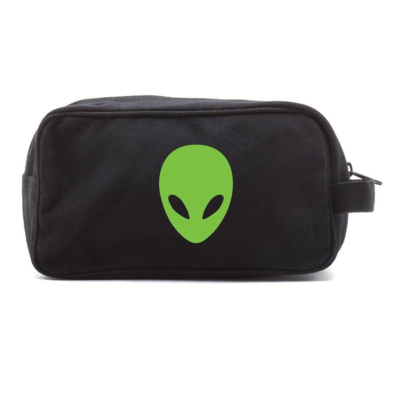 SciFi Alien Head Canvas Shower Kit Travel Toiletry Bag