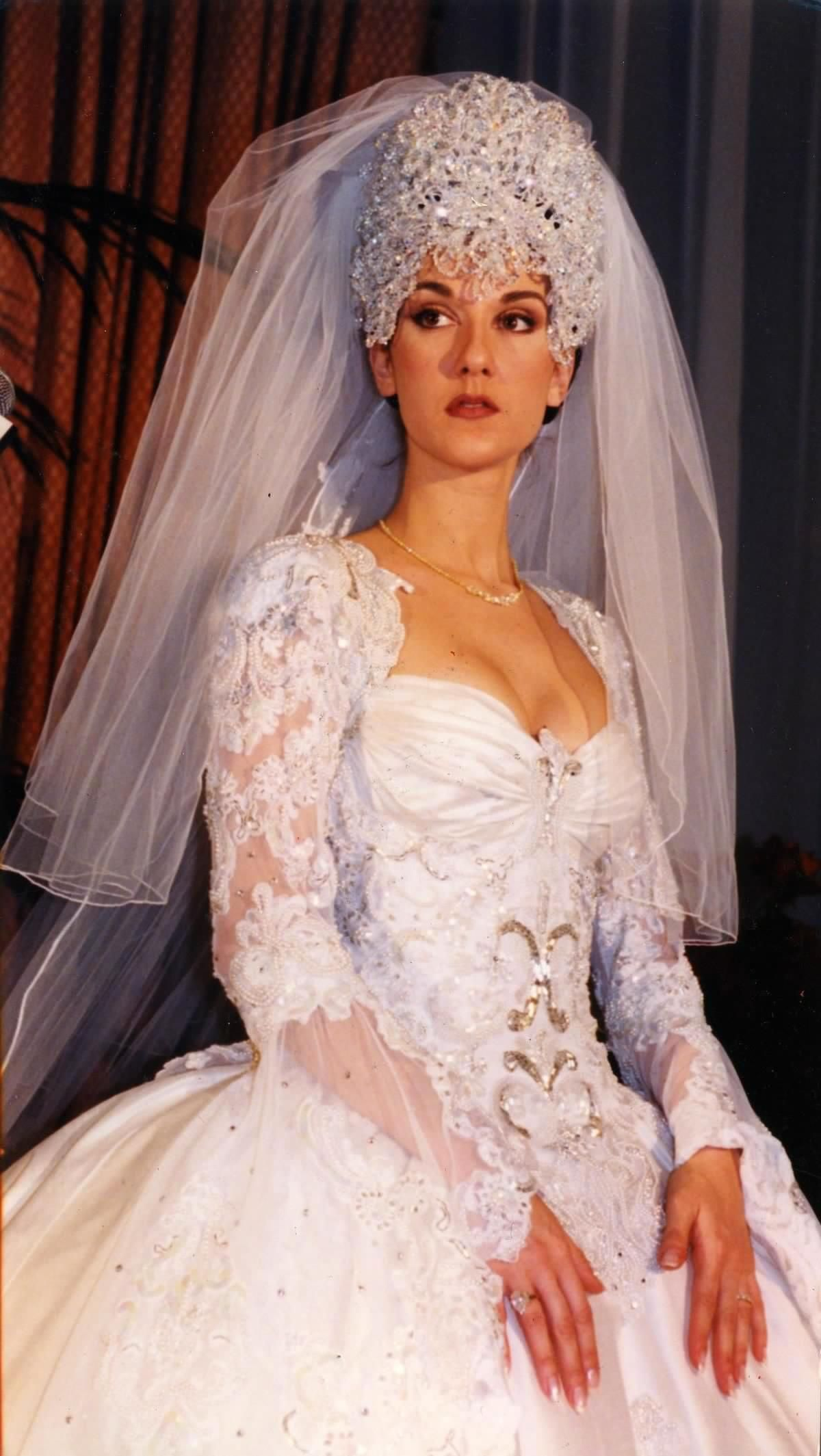 Famous wedding dresses  Celine Dion  Famous celebrity wedding gowns  Pinterest  Wedding