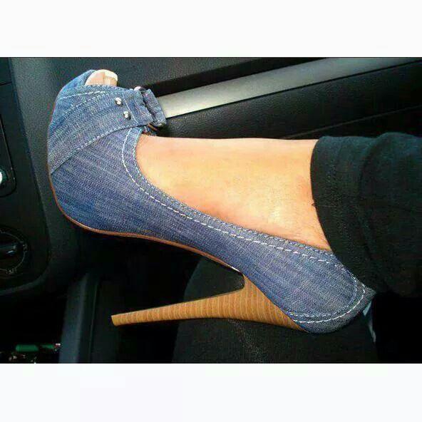 Denim heels!! You can't wrong