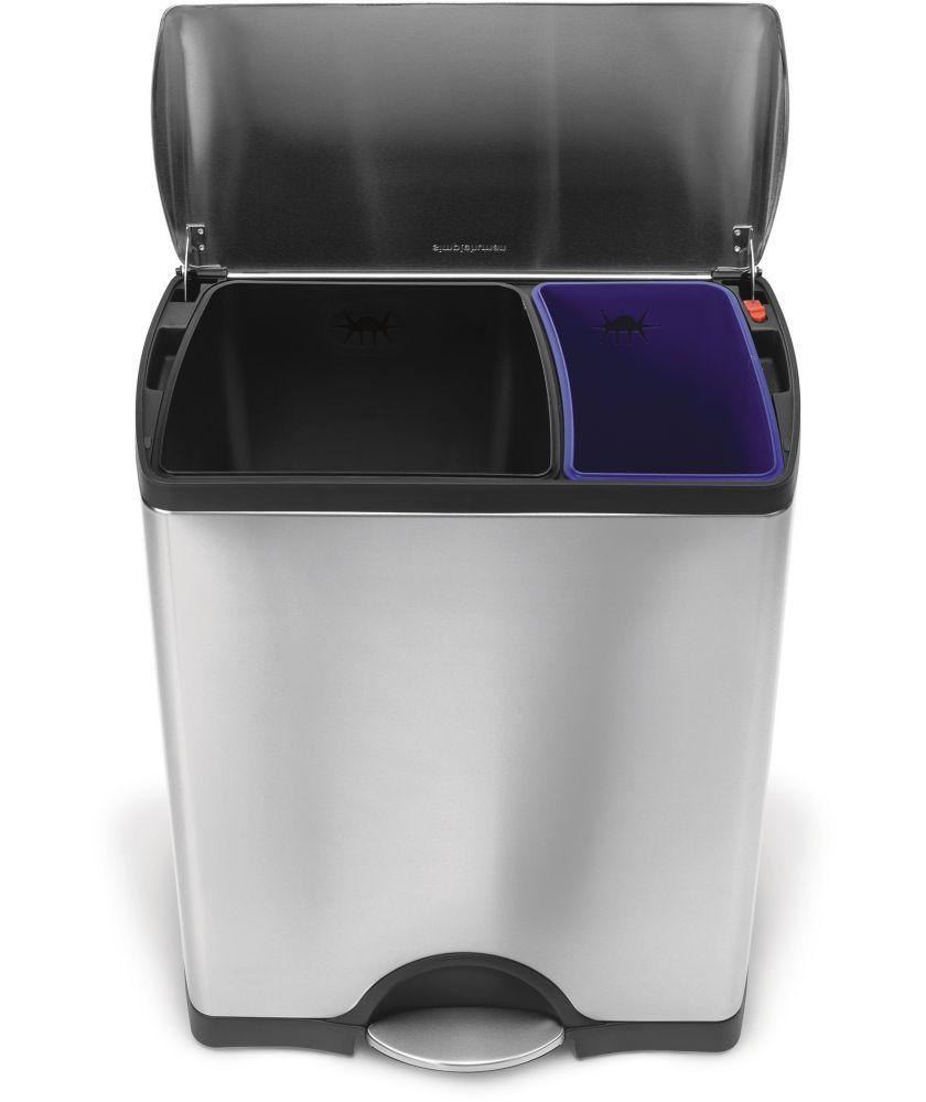 Buy Simplehuman 46l Rectangular Recycle Bin Kitchen Bins
