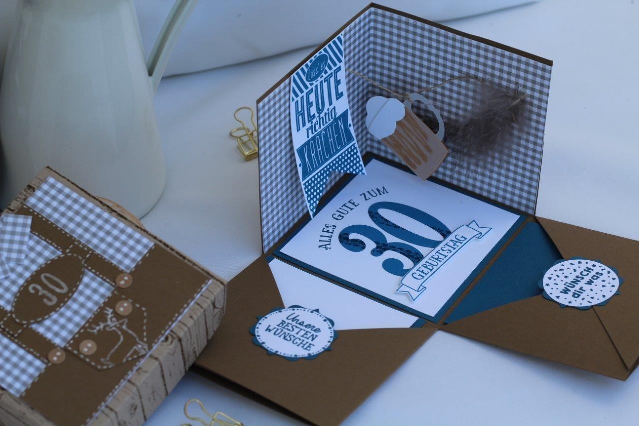 bayerische explosionsbox lederhose wildleder zum 30er runden geburtstag mann geldgeschenk. Black Bedroom Furniture Sets. Home Design Ideas