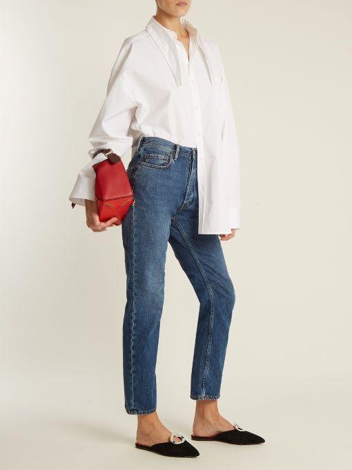 8d36ede0fbb1 Blå Konst Log low-rise straight-leg jeans   Acne Studios   style ...