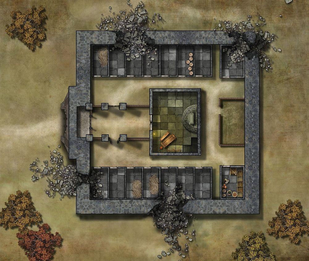 "Floorplan Of An Abandoned / Ruined Monastery. (""Old"