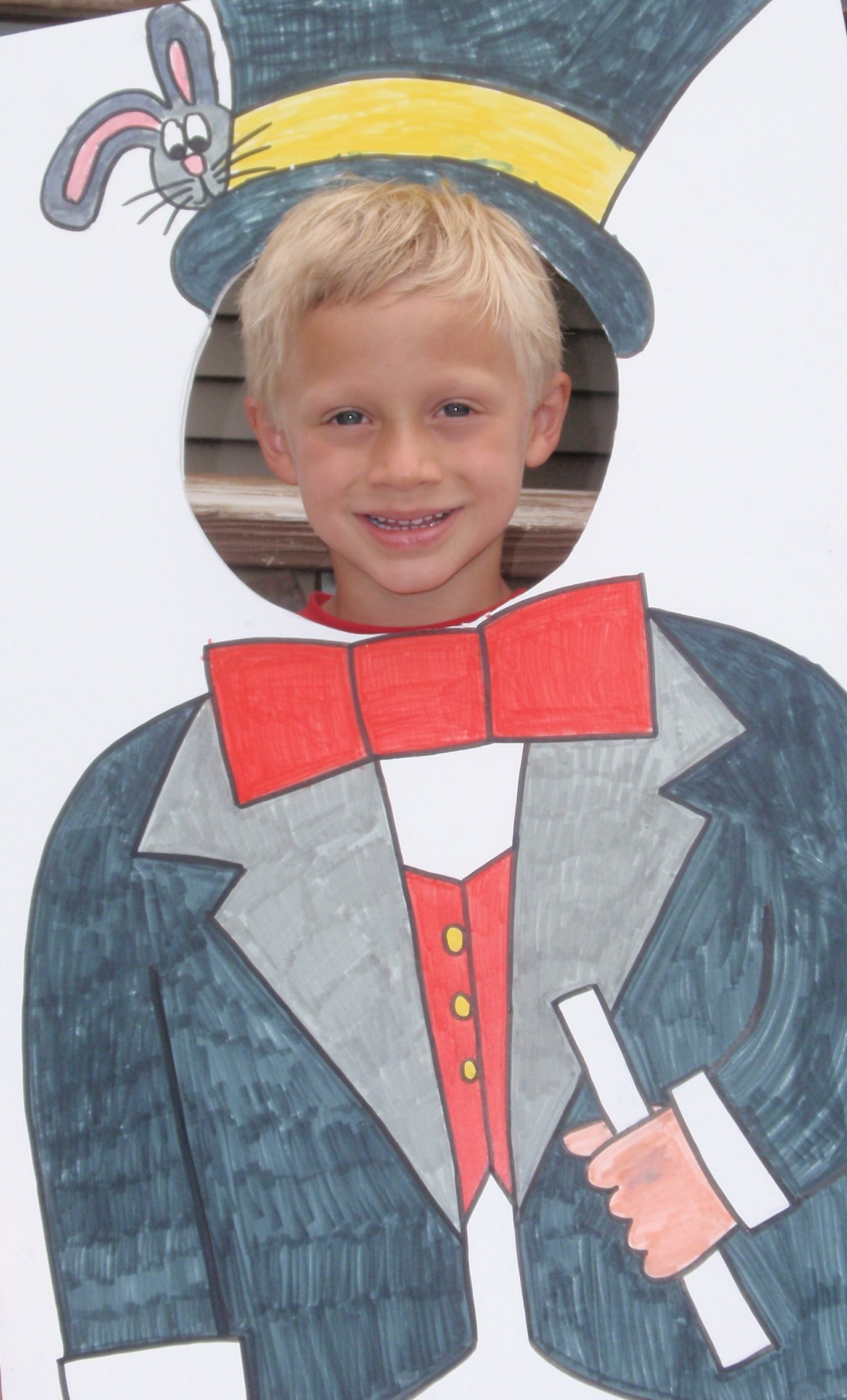 Super fun birthday party idea. Create your own photo cut outs and have kids pose for pics. The kids have a great time hamming it up and the pictures make super thank you card inserts. Just be sure to check TY envelope size before making prints