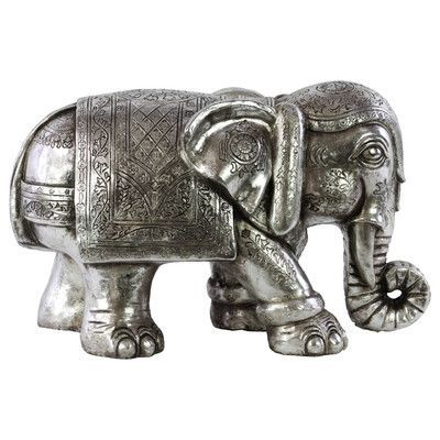 Urban Trends Resin Standing Elephant Figurine Finish:
