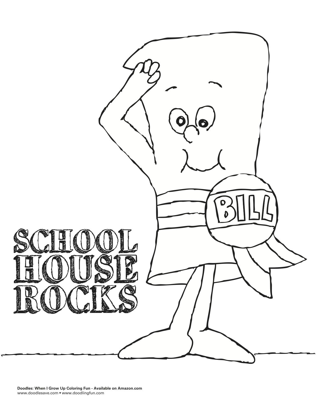 Who remembers School House Rock...? | Delightful Doodles Coloring ...