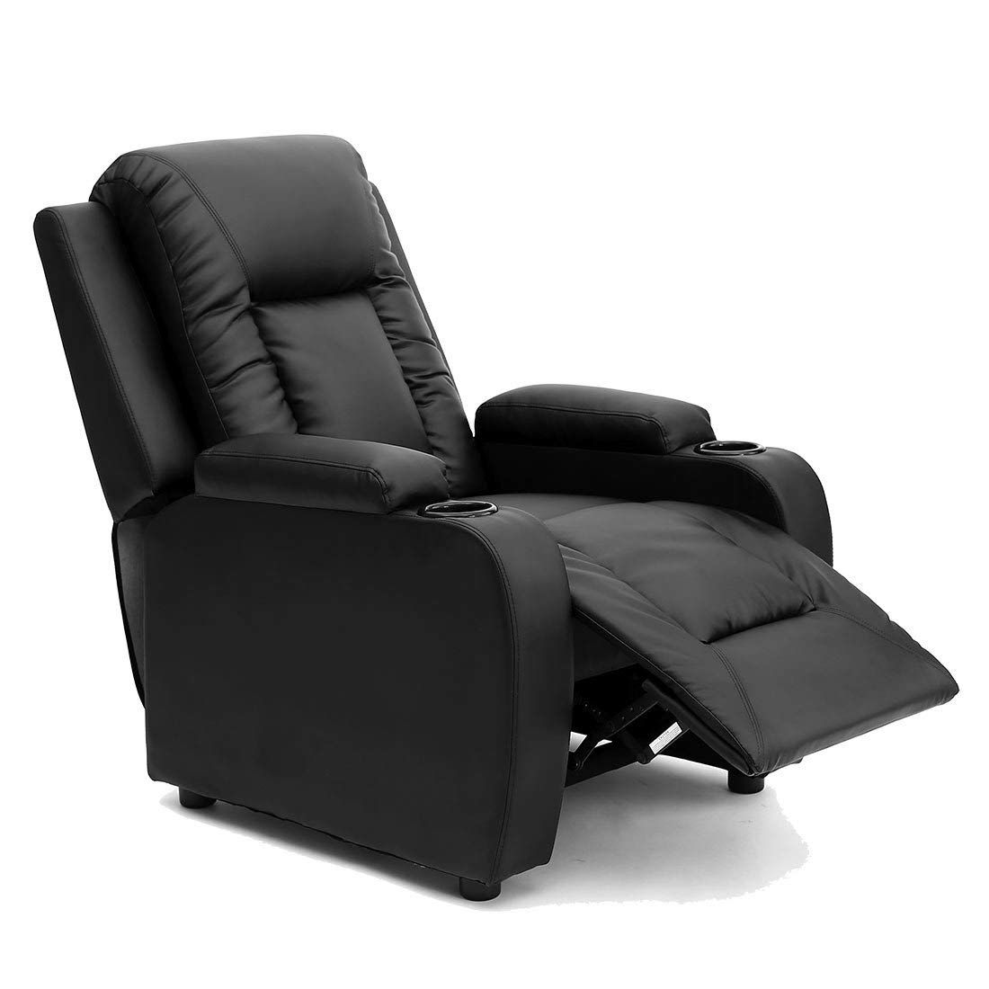 More4Homes OSCAR BONDED LEATHER RECLINER w DRINK HOLDERS