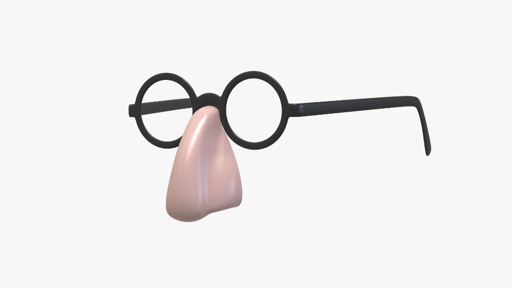 3d Groucho Marx Glasses Turbosquid 1585942 Groucho Glasses Groucho Marx