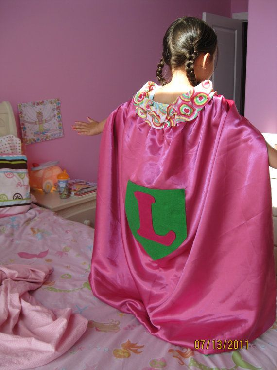 Girl's Personalized Princess Cape by KidCaped on Etsy
