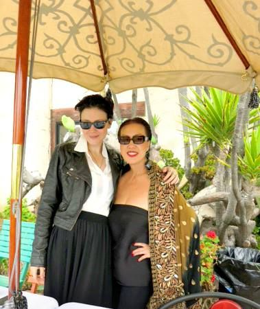 With my long-time super SW #model, Brandise during one of my beach BBQ at my home in Malibu. #teamsuewong #suewong #fashion