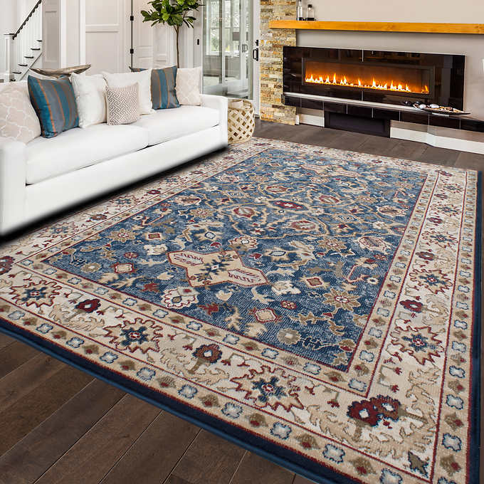Ecarpetgallery Tajma Blue And Cream Area Rug Ecarpetgallery