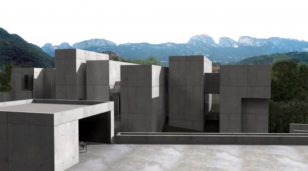 Casa MTY - Mexico, en esta casa se trata de emular al paisaje que la rodea
