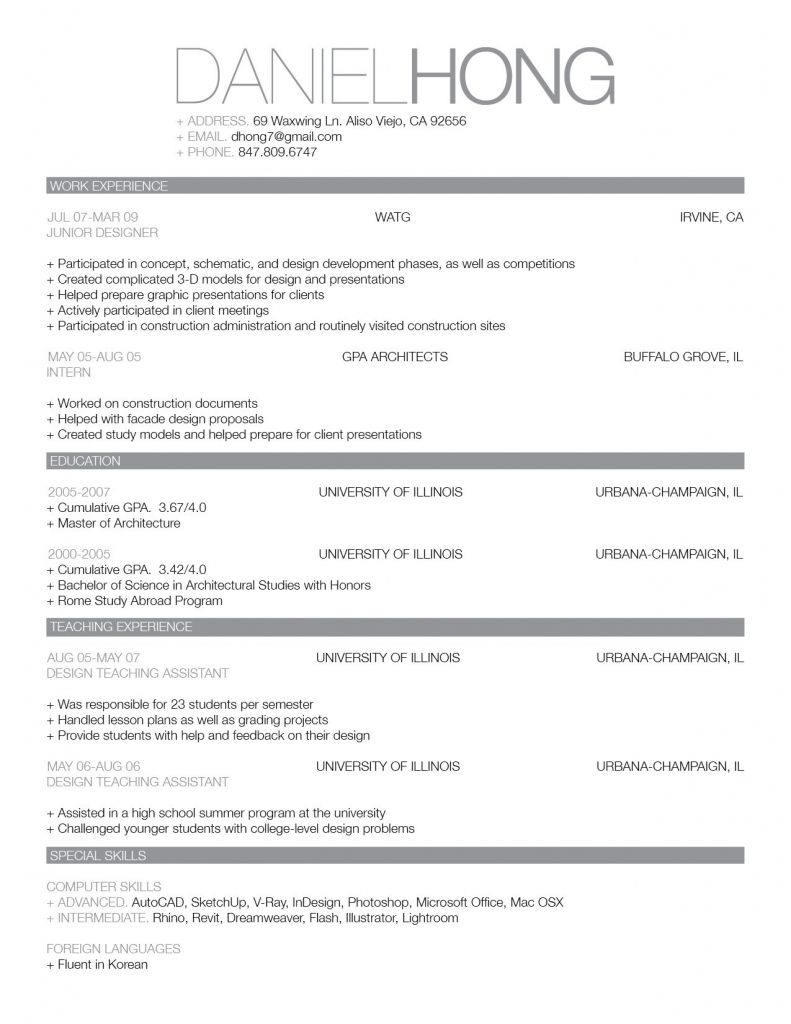 image result for best looking resumes
