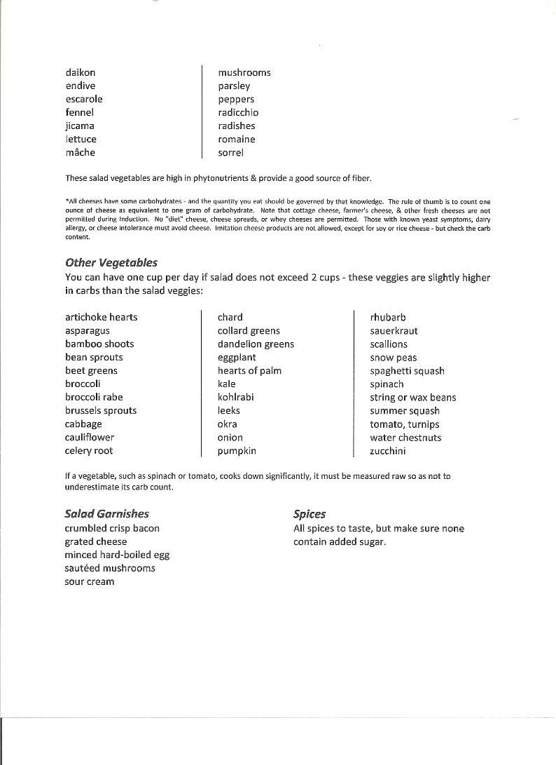 Induction List Primal Diet Recipes Low Carb Recipes Atkins Atkins Chicken Recipe