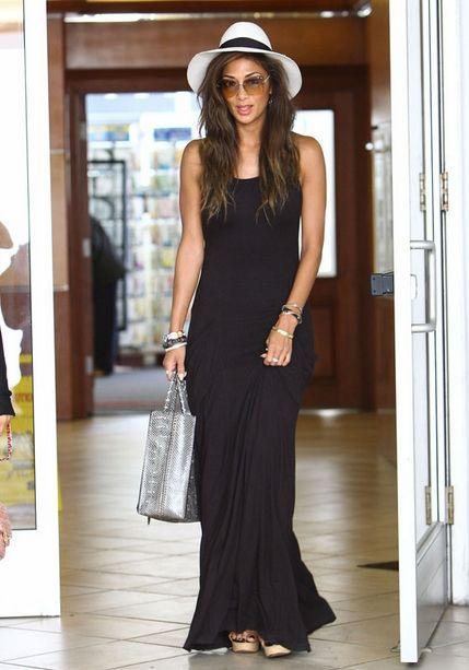 Maxi vestido negro casual